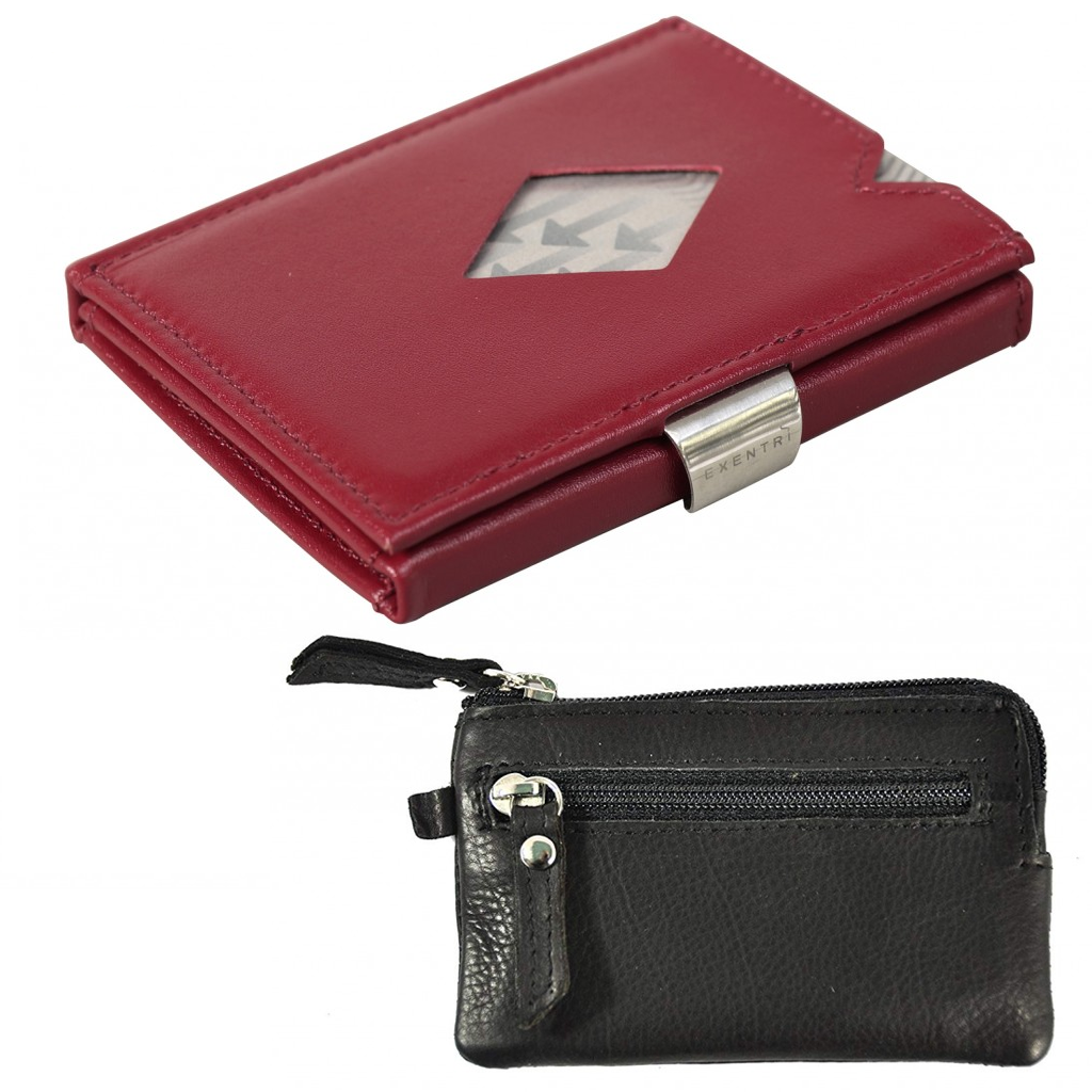 Exentri Wallet Red NON-RFID + Leather key case