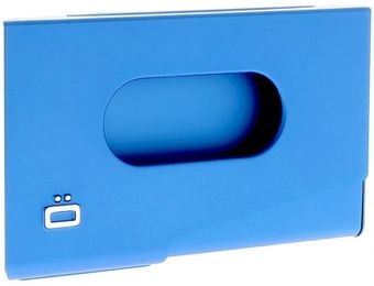 Ogon Business Card Holder ONE TOUCH Blue
