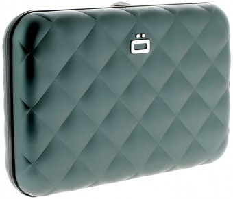 Ögon Card Case - Quilted Button Platinum