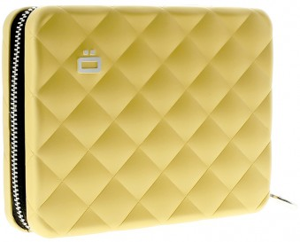 Ögon Quilted Passport Wallet Gold