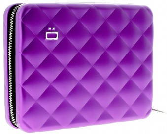 Ögon Quilted Passport Wallet Purple