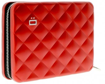 Ögon Quilted Passport Wallet Red