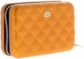 Ögon Card Case - Quilted Zipper Orange