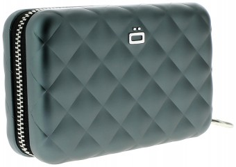Ögon Card Case - Quilted Zipper Platinum