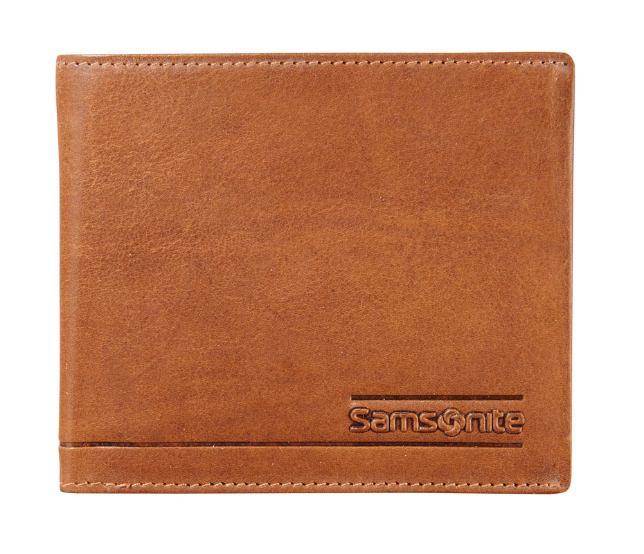 Samsonite Slant Small Billfold 3 Cards Tan